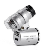 60X Zoom LED Microscope Micro Lens Magnifier Microscope--Silver