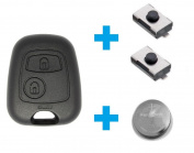 Peugeot Key Fob Remote Key Shell Case Keys incl. battery & Microtaster - Version 1 - suitable for