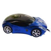 Tonsee Blue Wired Car Shape USB 3D 800 DPI Optical Mouse Mice For PC/Laptop