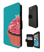1496 - Cool Fun Trendy Cute Cupcake sweets candy cartoon Kwaai collage (2) Design iphone 6 6S 12cm Fashion Trend TPU Leather Flip Case Full Case Flip Credit Card TPU Leather Purse Pouch Defender Stand Cover