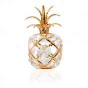 Matashi 24k Goldplated Genuine Crystals Pineapple Ornament