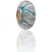 Charmies Glass Bead. Compatible with Pandora, Amore & Baci and Chamilia, etc Silver 925