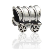 Charmies Cart in antique Silver/Compatible with Pandora, Amore Baci, Chamilia... & Silver 925
