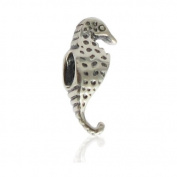 Charmies Hippocampus Bead in Antique Silver / Compatible with Pandora, Amore & Baci and Chamilia Silver 925