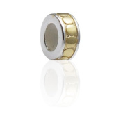 Charmies Stopper Compatible with Pandora, Amore & Baci, Chamilia etc. with Fine Gold Plating Sterling Silver, 925