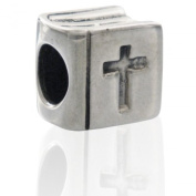 Charmies Bible Bead in Antique Silver. Compatible with Pandora, Amore & Baci and Chamilia, etc Silver 925