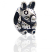 Charmies Rabbit in antique Silver/Compatible with Pandora, Amore Baci, Chamilia... & Silver 925