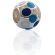 Charmies Silver and Enamel Bead. Compatible with Pandora, Amore & Baci and Chamilia, etc Silver 925