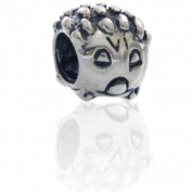 Hedgehog Charmies Flower Bead in antique Silver/Compatible with Pandora, Amore Baci, Chamilia... & Silver 925
