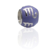 Scorpion Charmies Silver and Enamel Bead. Compatible with Pandora, Amore Baci, Chamilia... & Silver 925