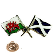 wales and scotland peace flags Lapel Pin Badge / tie pin, in gift box ideal gift