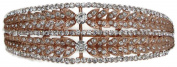Signature Tiara Rose Gold with Austrian Crystal Leaf Design Headband