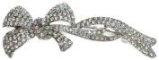 Signature Tiara Silver Austrian Crystal Bow Hair Comb