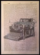 VINTAGE TYPEWRITER PRINT Antique Dictionary Page Wall Art Picture Retro Hipster