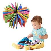 Yosoo 6 Books Soft Cloth Children Intelligence development Cognize Book Educational Activity Toy for Kid Baby