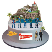 Stand Up Thunderbirds Are Go Cake Scene Premium Edible Wafer Paper Cake Toppers - Easy to Use