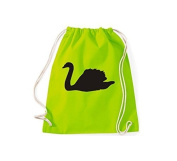 ShirtInStyle Gym Sack Gymnastics bag Cult bag Animals Swan