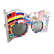 Party Costumes - Sun-Staches - Multi Flag Flag Frame Toys Sunglasses SG1804