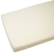 2x Cot Bed Jersey Fitted Sheet For Toddler 140x70cm Cream