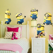 5 LARGE MINIONS DESPICABLE ME Wall Stickers Decals Room Kids Decor Removable UK STOCK