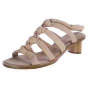 Martha Davis Tube Sandal Heel Nude Shoes Size 7 MD111908 New $199