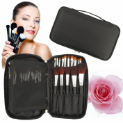 Discoball® Professional Beauty Cosmetics Make Up Brush Set Kit Non-woven fabrics Black Case hand Bag for travel