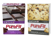 Pure Fit Nutritional Bar-Chocolate Brownie/Peanut Butter Chocolate Chip-15 Bars of Each