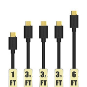 Tronsmart [5-Pack] Premium Micro USB Cables in Assorted Lengths (1.8m x 1, 1m x 3, 0.3m x 1) High Speed USB 2.0 A Male to Micro B Sync and Charge Cables