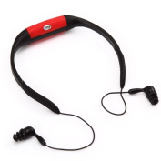 KK-ELECTRONICS NEW Cool Fashion 4GB Waterproof MP3 Player With FM Radio for Swimming Surfing SPA IPX8- Red