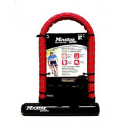 Master U-Lock for Bicycles with Carrier Bracket and 2 Keys