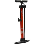 Bell Air Glide High Pressure Floor Pump with Gauge, Orange