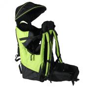 Deluxe Green Baby Back Pack Cross Country Carrier Child Kid Sun Shade Visor New
