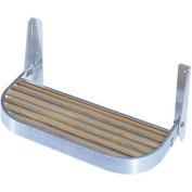 (Price/Each)Garelick Foot Rest Aluminium/Teak 38cm 27515