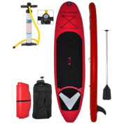 Vilano Voyager 3.4m (15cm Thick) Inflatable SUP Stand Up Paddle Board Package Red / Black