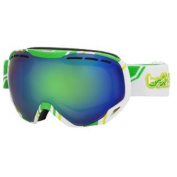Bolle 21141 Emperor Ski Google, White and Lime