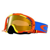 Oakley Crowbar MX Bio Hazard Goggles with Orange/Blue Print Frame