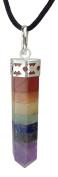 Chakra Pendulum Pendant made from Real Gemstones
