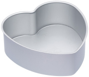 Master Class Silver Anodised Heart-Shaped Cake Tin With Loose Base, 20 cm