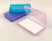 Orthodontic Wax Translucent Cases (Purple, Blue, Pink) - Set of 3