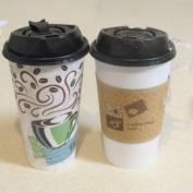 NEW Reclosable Black Dome Lid for 10-470ml PerfecTouch Cups and 12-590ml Paper Hot Cups , appx. - 100 pack