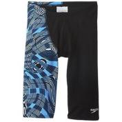 Speedo Big Boys' Scoubidou Youth Jammer Swimsuit, Blue, 26
