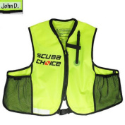 Scuba Choice Scuba Choice Snorkelling Oral Inflatable Snorkel Jacket Vest with Pockets
