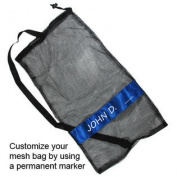 Scuba Diving Drawstring Mesh Bag with Shoulder Strap. 60cm x 33cm