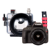 Ikelite Compact TTL Housing Canon EOS 100D Rebel SL1 DSLR Camera and Lens Kit
