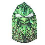 Motorcycle Balaclava Hood Plant Demon Pattern Face Protective Mask Green