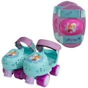 Playwheels Toy Skates Frozen Jr Glitter Roller Skates with Knee Pads 162601