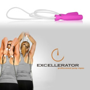 Excellerator Women's Resistance Tubing Jump Rope, 2.6m, Pink/White