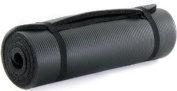 ProSource High Density 180cm Exercise Yoga Mat with Carrying Straps - Black