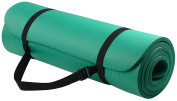 BalanceFrom GoYoga All-Purpose 1.3cm Extra Thick High Density Anti-Tear Exercise Yoga Mat with Carrying Strap