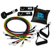 Cayman Fitness Premium Resistance Band Set. The Exercise Band Set Comes with 5 Heavy Duty Bands, Door Anchor, 2 Neoprene